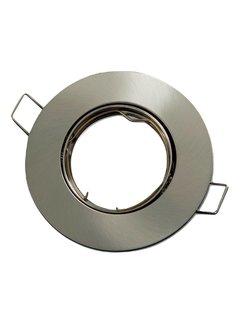 Indbygningsspot Satin rund - Justerbar Indvendig mål 75mm Udvendig diameter 92mm