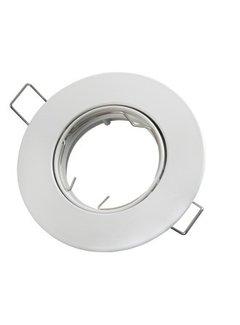 Indbygningsspot hvid Justerbar - Indvendig mål 75mm - Udvendig diameter 92mm
