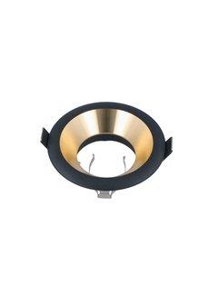 LED Indbygningsspot Guld/Sort - Indvendig mål 75mm - Udvendig diameter 94mm