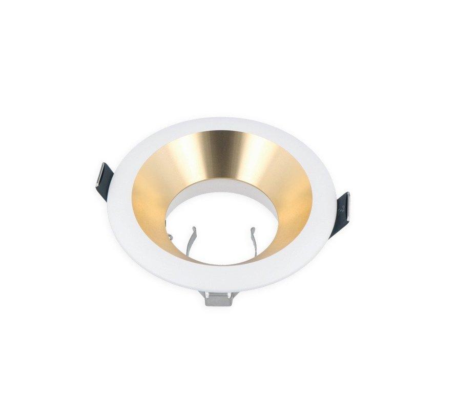 LED Indbygningsspot - Guld/Hvid - Indvendig mål 75mm - Udvendig diameter 94mm