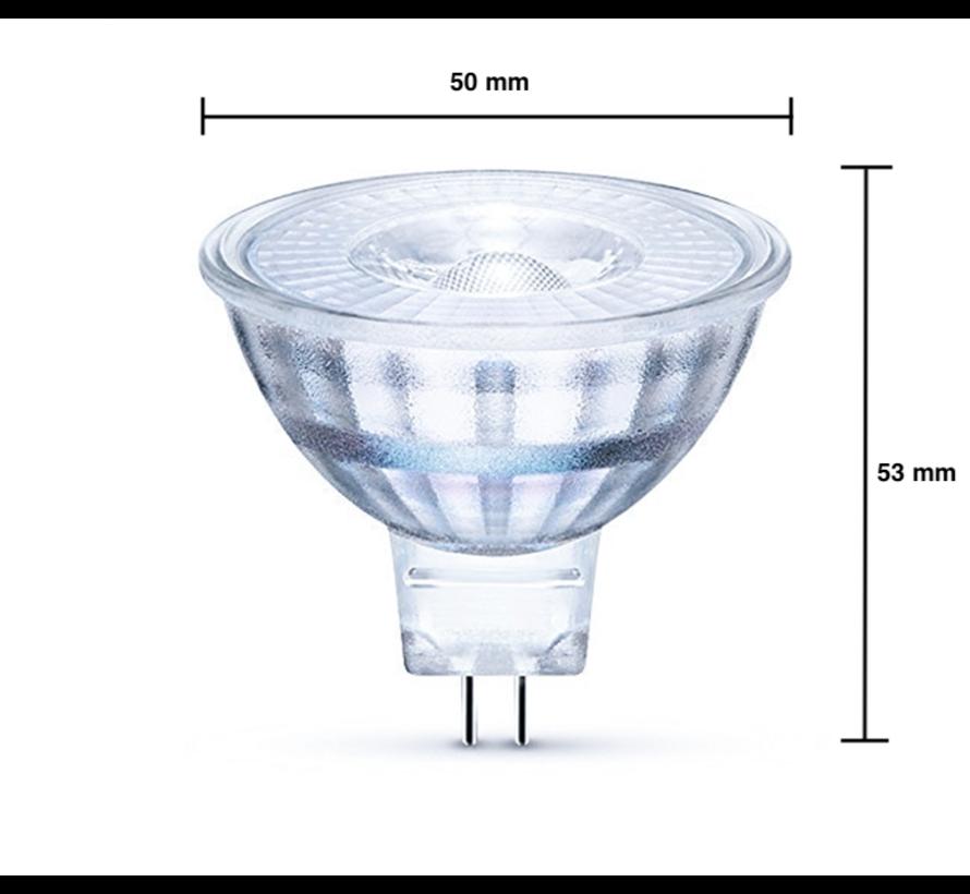 LED Spot GU5.3 - MR16 LED - 3W erstatter 25W - 6500K koldt hvidt lys - I glas