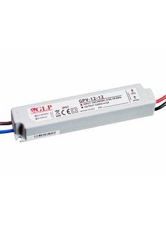 LED strømadapter - 12V 12W 1A - passer til 12V LED-lys - IP67 vandtæt