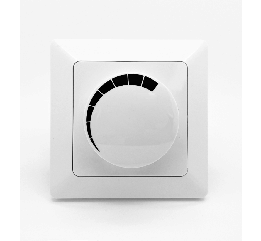 LED Indbygget Lysdæmper 3-60W - Passer til alle dæmpbare LED-lamper - Inkl. ramme