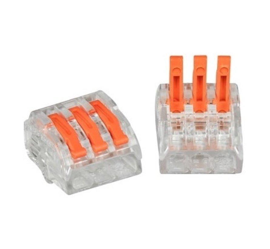 LED Indbygningsspot sæt 3 stk dæmpbar - Badeværelse IP44 - Satin Rundt 5,5W 4000K naturligt hvidt lys - Indvendig mål 74mm