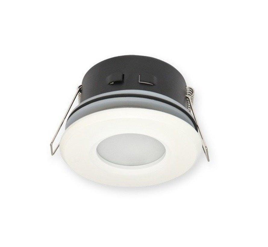 LED Indbygningsspot hvid - Badeværelse IP44 - Indvendig mål 73mm - Udvendig diameter 83mm