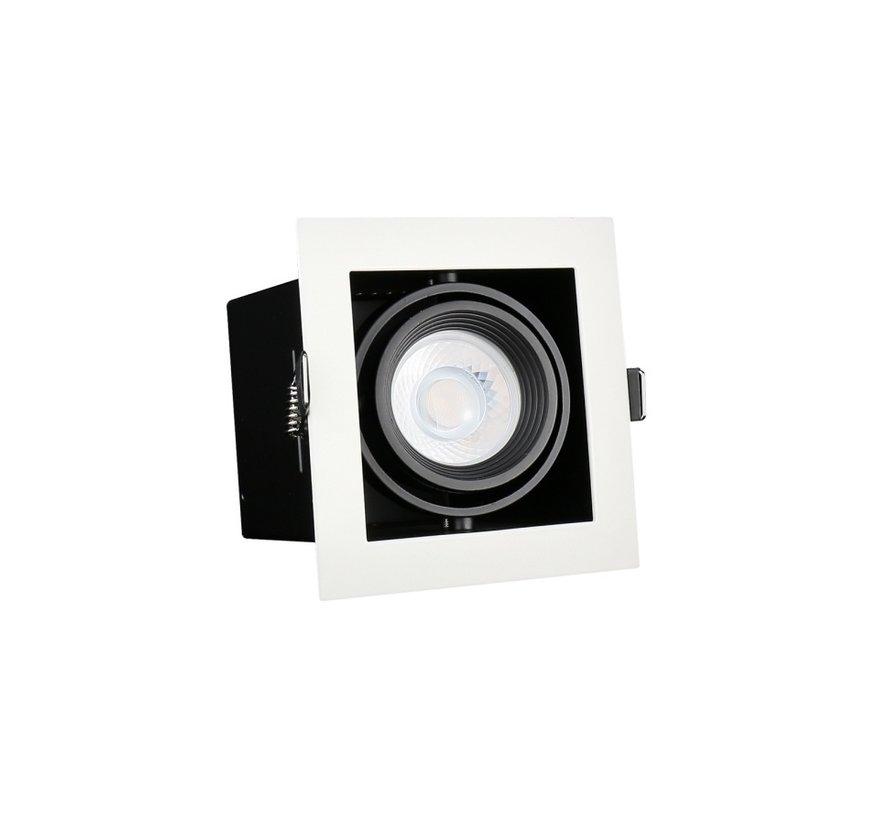 LED Downlight armatur - Firkantet med 1 GU10-fatning