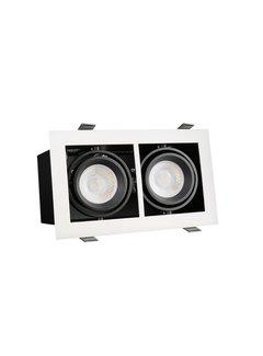 LED Downlight armatur Rektangulær med 2 GU10-fatning