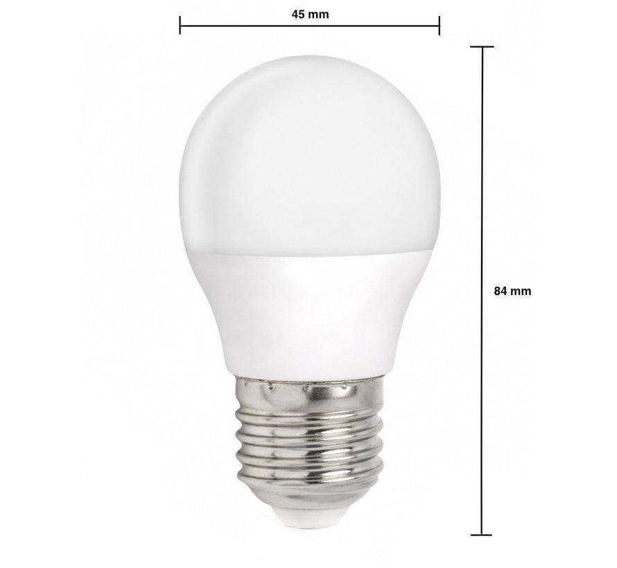 LED pære - E27 fatning - 6W erstatter 45W - Varmt hvidt lys 3000K