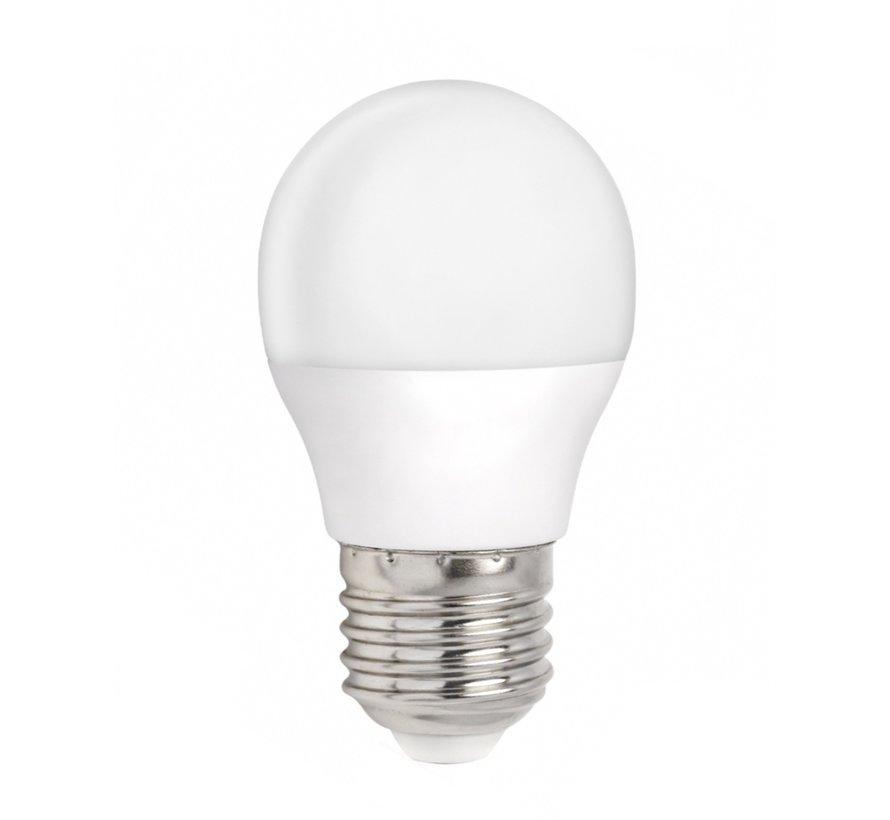 LED pære - E27 fatning - 6W erstatter 40W - Koldt hvidt lys 6000K