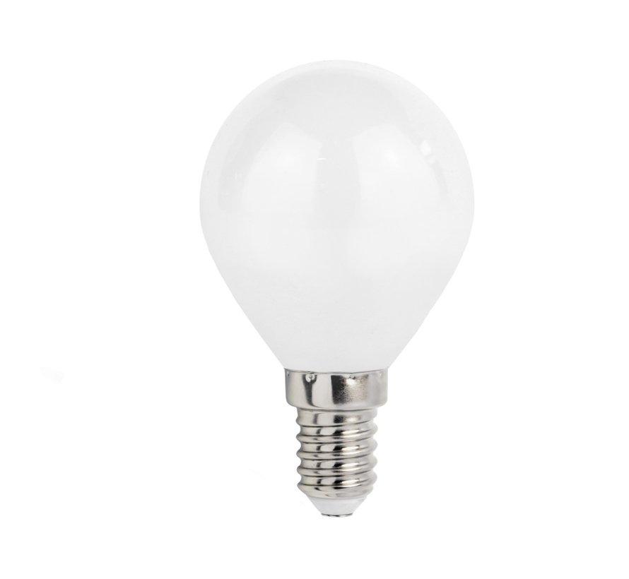 LED pære - E14 fatning - 6W erstatter 50W - 3000k varmt hvidt lys
