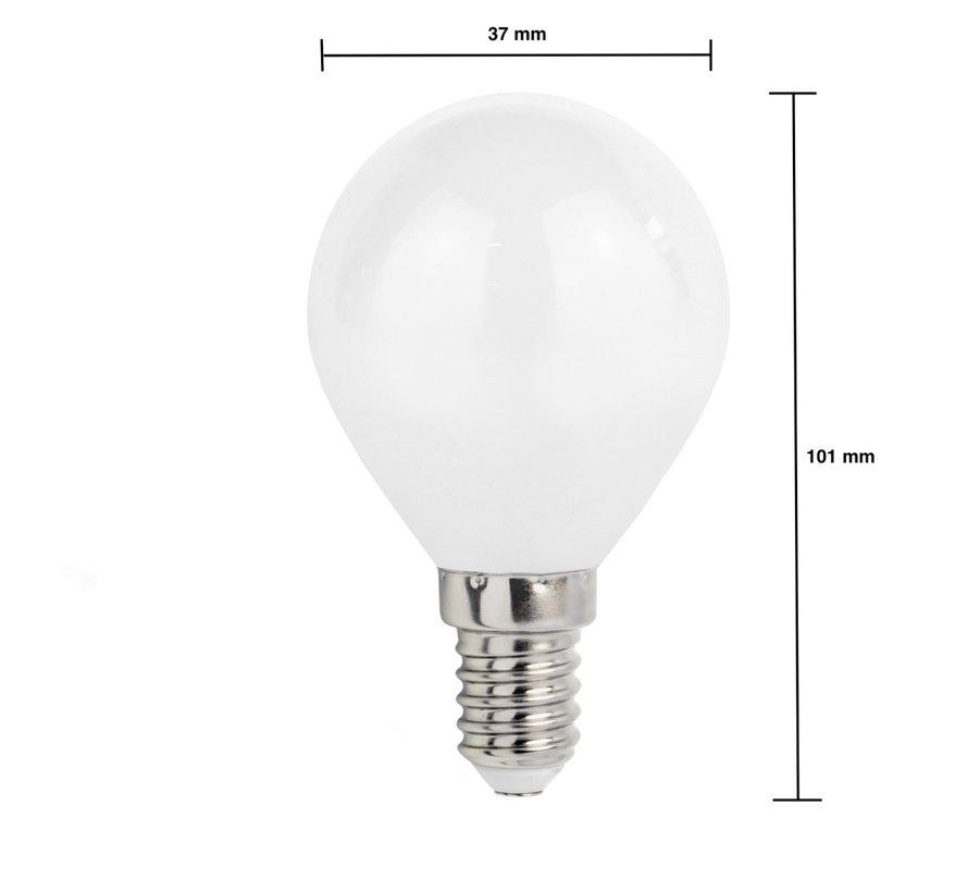 LED pære - E14 fatning - 6W erstatter 50W - 6400K dagslys hvid