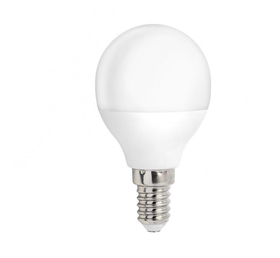 LED pære - E14 fatning - 4W erstatter 30W - Varmt hvidt lys 3000K