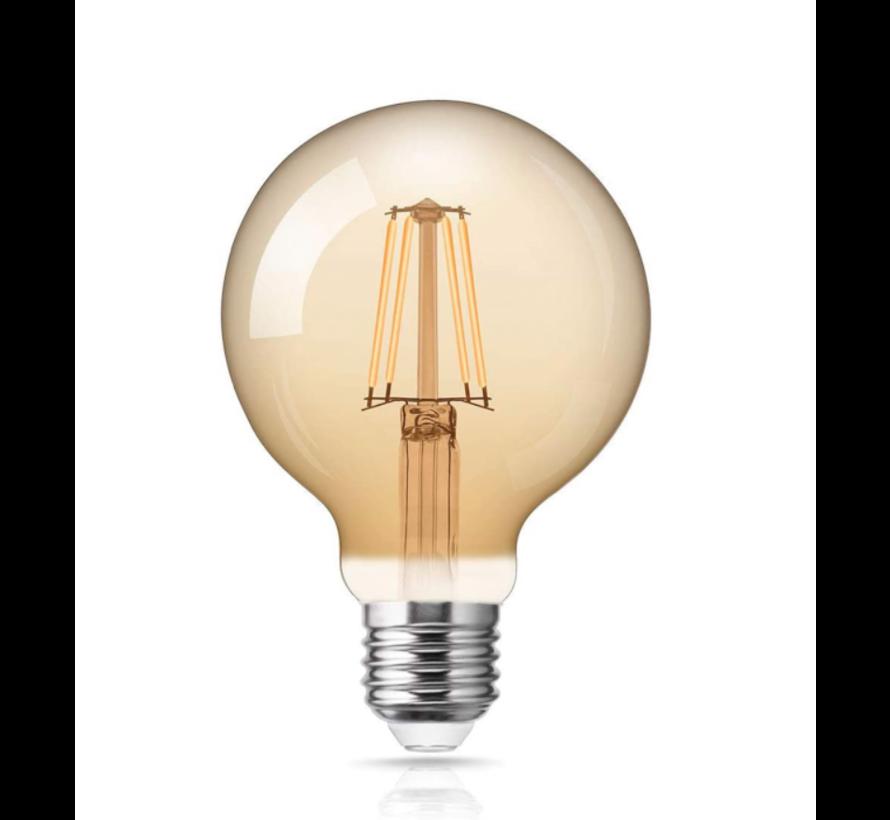 LED glødelampe dæmpbar - XL GLOBE - E27-fatning - 4W erstatter 40W - 2200K ekstra varmt hvidt lys