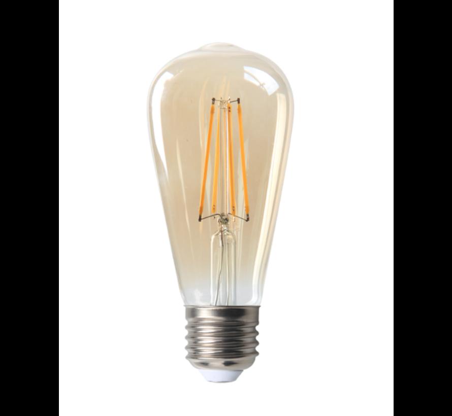 LED glødelampe - Tall - Dæmpbar - E27-fatning - 4W erstatter 40W - 2200K ekstra varmt hvidt lys