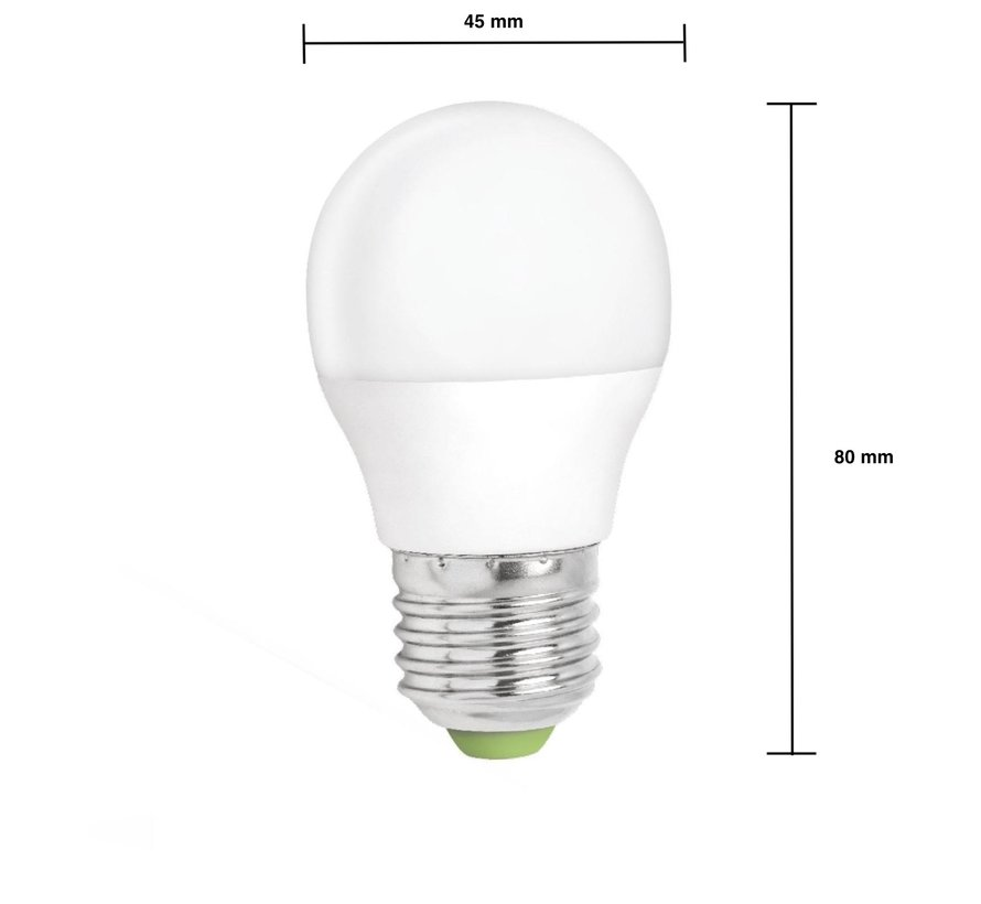 LED pære dæmpbar - E27-fatning - 6W erstatter 40W - Koldt hvidt lys 6000K
