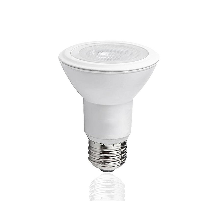 LED pære - E27 PAR20 - 8W erstatter 60W - 6500K koldt hvidt lys