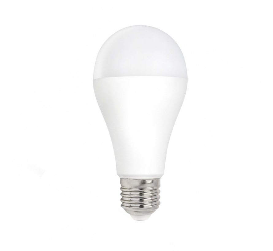LED pære - E27-fatning - 9W erstatter 72W - 4000K naturligt hvidt lys