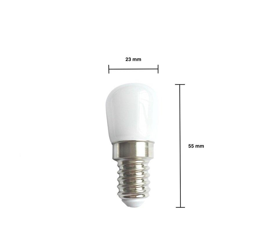 Pakke med 10 stk. - E14 LED-pærer - Type T26 - 2W erstatter 14W - Lysfarve valgfri