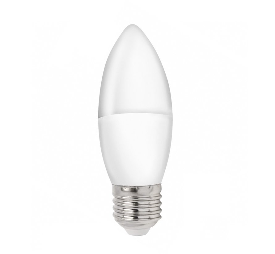 LED pære i kerteform - E27 fatning - 3W erstatter 25W - 3000K varmt hvidt lys