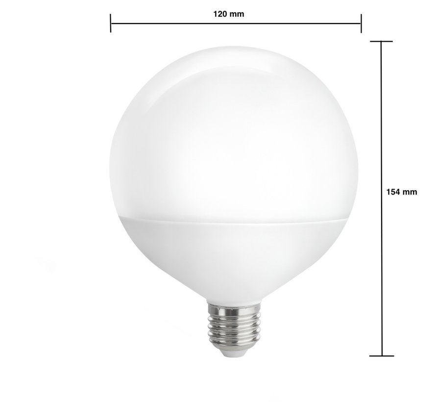 LED pære - XL G120 E27 - 16W erstatter 160W - 4000K naturligt hvidt lys
