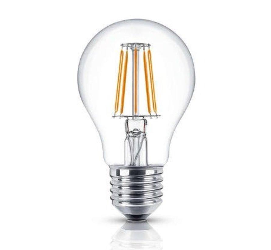 LED glødelampe - Dæmpbar - E27 - 5W erstatter 50W - 2700K varmt hvidt lys