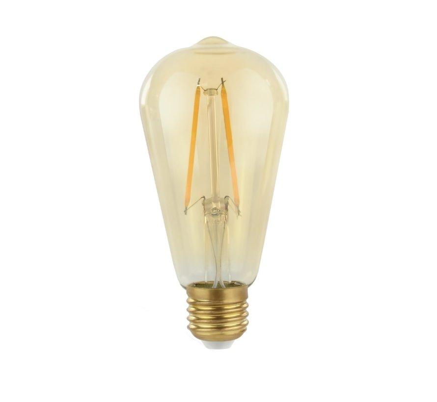 LED glødelampe - Ikke dæmpbar - E27 ST64 - 2W erstatter 25W - 2500K ekstra varmt hvidt lys