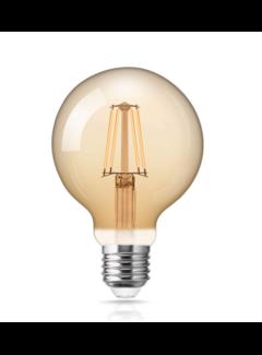 LED glødelampe dæmpbar - XL GLOBE E27-fatning - 6W erstatter 60W - 2200K ekstra varmt hvidt lys