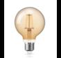 LED glødelampe dæmpbar - XL GLOBE - E27-fatning - 6W erstatter 60W - 2200K ekstra varmt hvidt lys