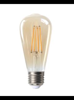 LED glødelampe - Tall Dæmpbar - E27-fatning 6W erstatter 60W - 2200K ekstra varmt hvidt lys