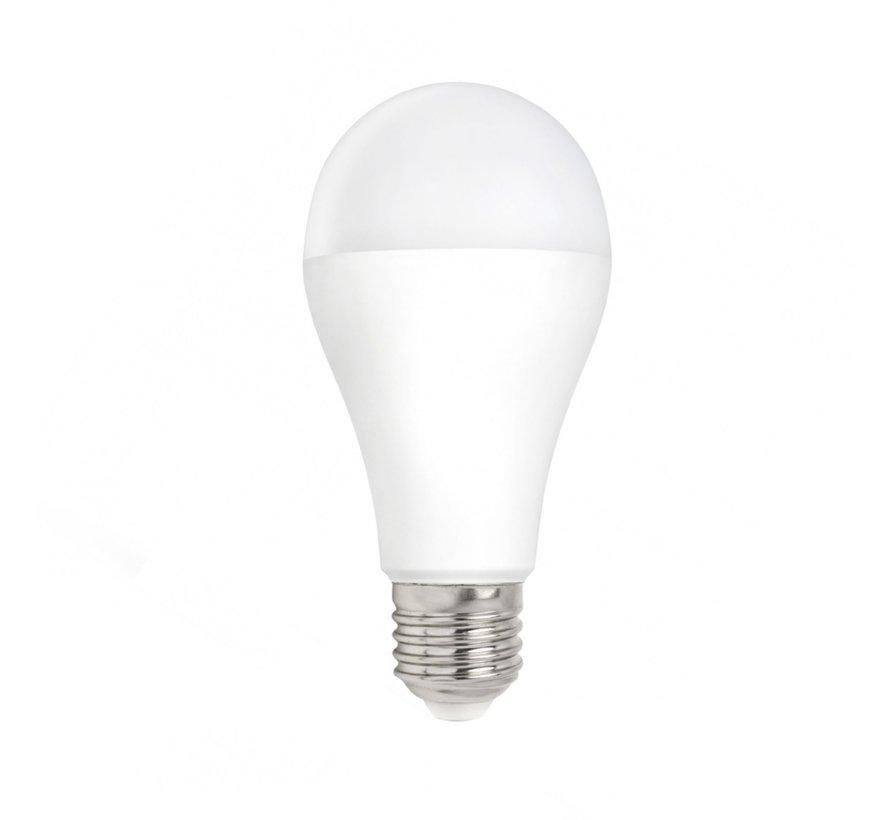 LED pære - E27-fatning - 9W erstatter 72W - 6400K koldt hvidt lys