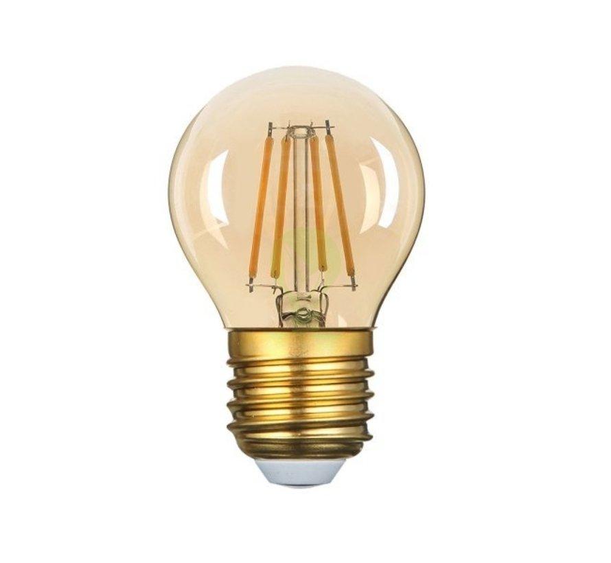 LED glødelampe dæmpbar - E27 G45 - 5W erstatter 40W - 2200K ekstra varmt hvidt lys