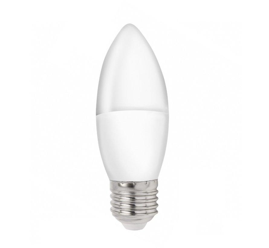 LED pære i kerteform - E27 fatning - 1W erstatter 10W - 3000K varmt hvidt lys