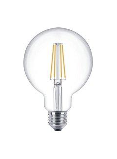 LED glødelampe dæmpbar - XL GLOBE E27-fatning - 6W erstatter 60W - 2700K varmt hvidt lys