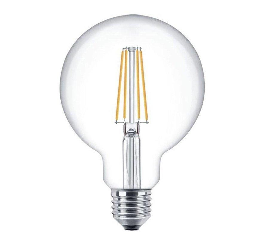 LED glødelampe dæmpbar - XL GLOBE - E27-fatning - 6W erstatter 60W - 2700K varmt hvidt lys