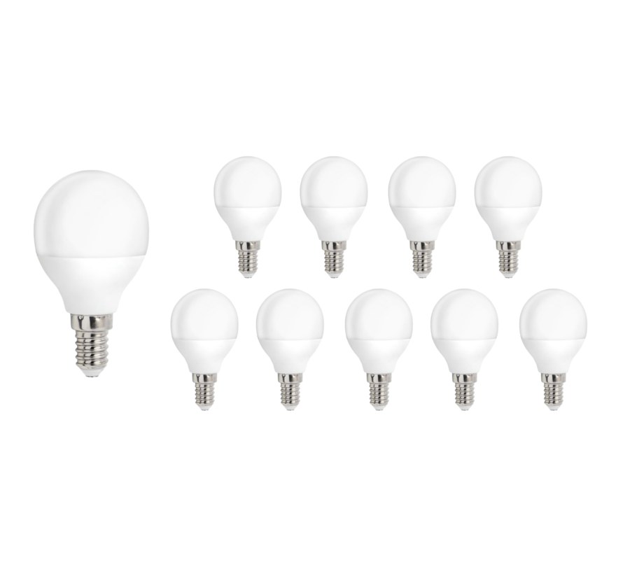 Pakke med 10 stk. - E14 LED-pære - 1W erstatter 10W - Lysfarve valgfri