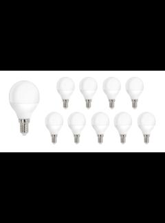 Pakke med 10 stk. - E14 LED-pære - 4W erstatter 30W - Lysfarve valgfri