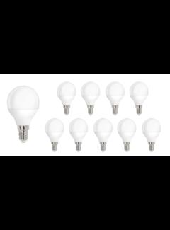 Pakke med 10 stk. - E14 LED-pære - 8W erstatter 60W - Lysfarve valgfri
