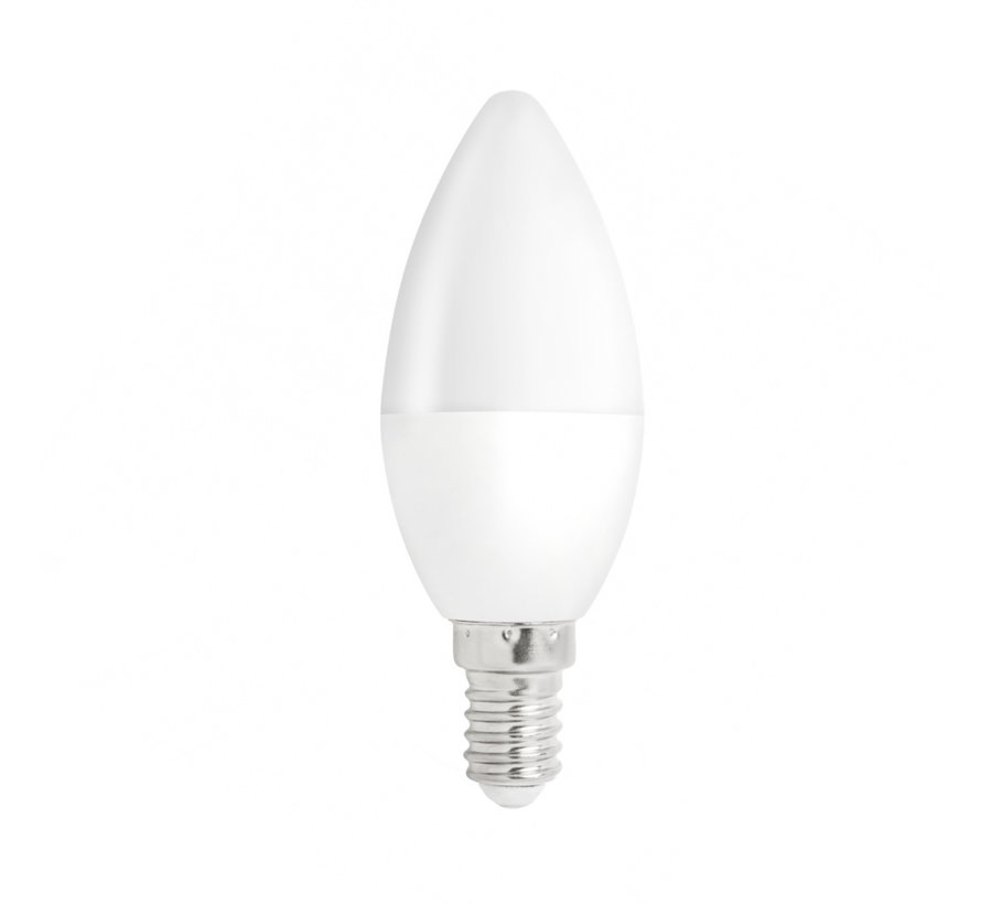 Pakke med 10 stk. - E14 LED-pære i kerteform - Type C37 - 3W erstatter 25W - 3000K varmt hvidt lys