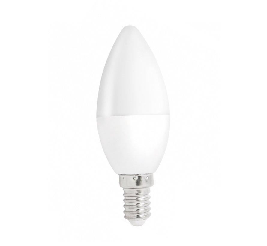 Pakke med 10 stk. - E14 LED-pære i kerteform - 1W erstatter 10W - 3000K varmt hvidt lys