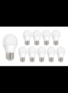 Pakke med 10 stk. - E27 LED-pærer - Type G45 3W erstatter 25W Lysfarve valgfri