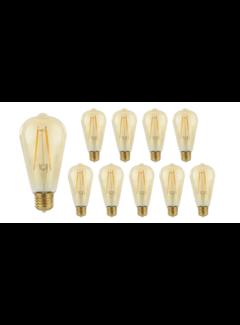 Pakke med 10 stk. - E27 LED-pære - Tall - 2W erstatter 25W - 2500K ekstra varmt hvidt lys
