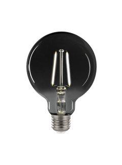 LED glødelampe i røget glas - XL GLOBE G125 E27 fatning 4,5W - 4000K naturligt hvidt lys