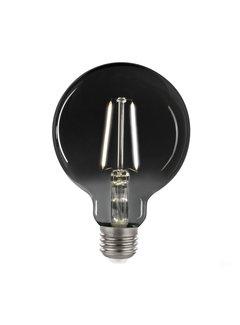 LED glødelampe i røget glas - GLOBE G95 E27-fatning 4,5W - 4000K naturligt hvidt lys
