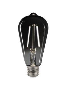 LED glødelampe i røget glas - Tall ST64 - E27-fatning 2,5W - 4000K naturligt hvidt lys