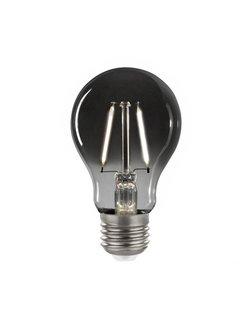 LED glødelampe i røget glas - A60 - E27 fatning 2W - 4000K naturligt hvidt lys