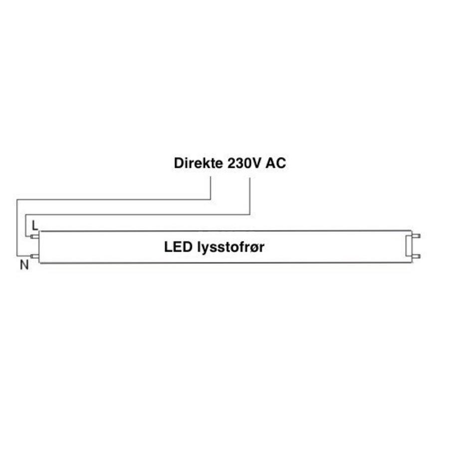 LED Lysstofsrør T8 6000K Kold Hvid 60 cm 10W  erstatter 18W rør