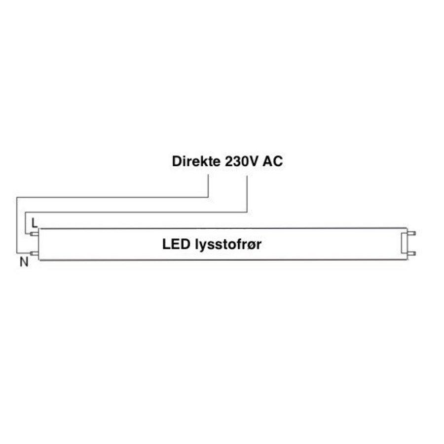 LED Lysstofsrør - T8 - 840 - 4000K - Naturlig Hvid - 90 cm - 15W - erstatter 30W rør