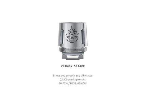 Smok SMOK TFV8 V8 Baby-X4 Quadruple 0.15 Ohm Verdampferkopf