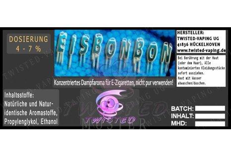 Twisted Vaping Eisbonbon Aroma von Twisted Vaping - Aroma zum Liquid Mischen mit einer Base