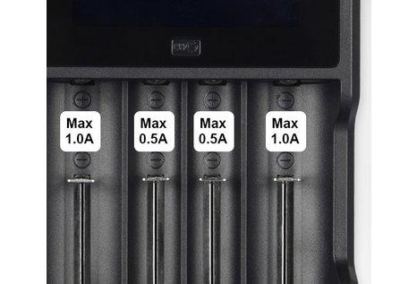 XTAR XTAR VC4 Ladegerät für bis zu 4  Li-Ionen Akku